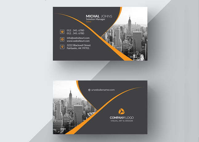 business card and stationery